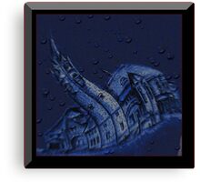 Water, Brick, and Ink Canvas Print