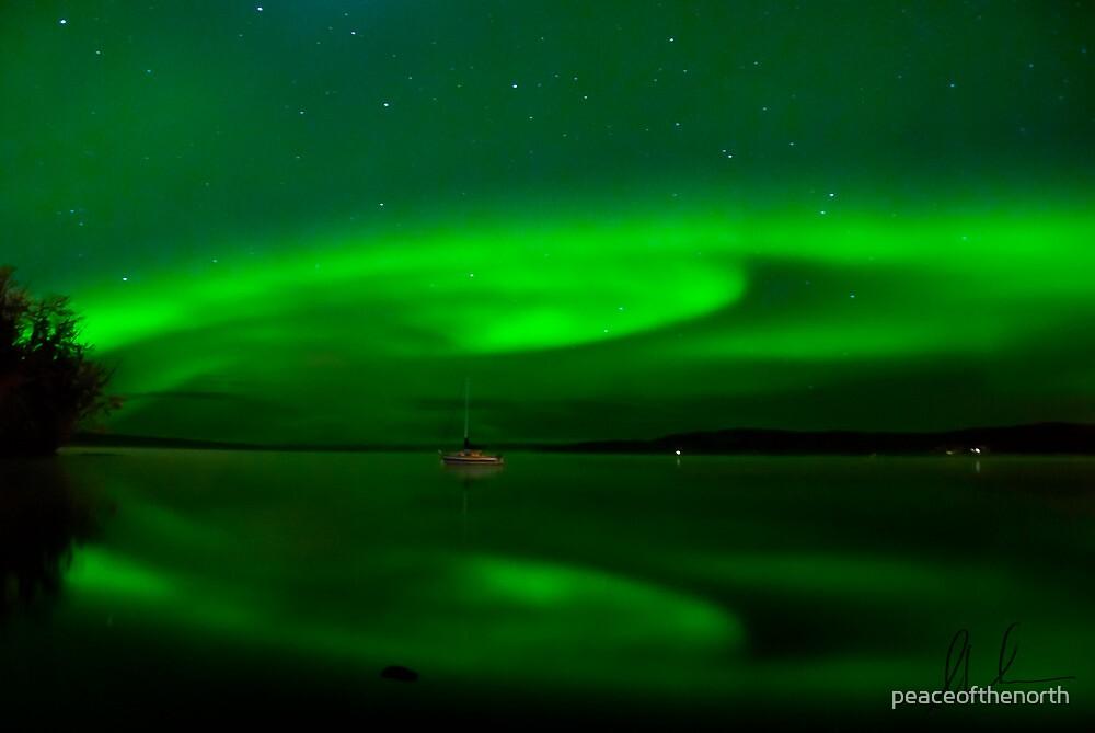Charlie Lake Auroras # 2 by peaceofthenorth