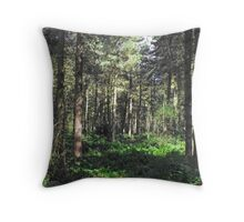 Trees at snipe dales  Throw Pillow