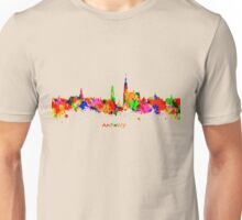 Antwerp Watercolour Skyline Unisex T-Shirt