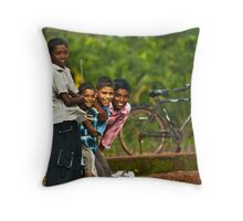 How many smiles.. ? Throw Pillow