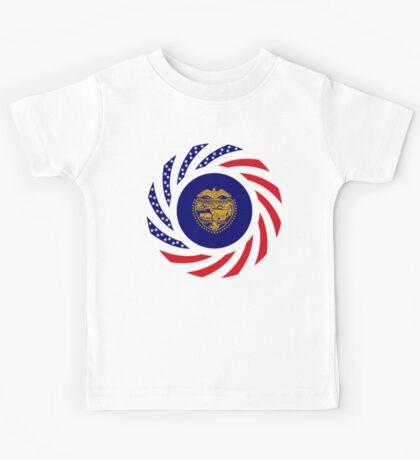 Oregon Murican Patriot Flag Series Kids Tee