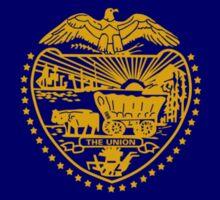 Oregon Murican Patriot Flag Series Sticker