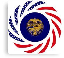 Oregon Murican Patriot Flag Series Canvas Print