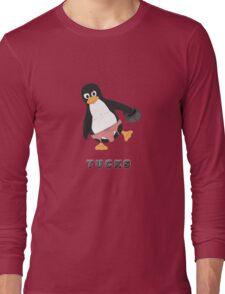 Tucks the penguin Long Sleeve T-Shirt