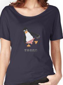 Tucks the penguin Women's Relaxed Fit T-Shirt