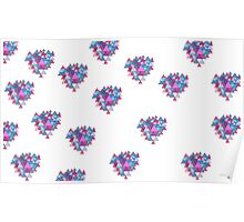 Beautiful pattern 2 (white) Poster