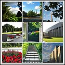 The Preston Temple Grounds in High Summer Collage by BlueMoonRose