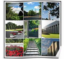 The Preston Temple Grounds in High Summer Collage Poster