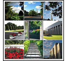 The Preston Temple Grounds in High Summer Collage Photographic Print