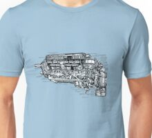 Supermarine Spitfire (Merlin) V12 Engine. Unisex T-Shirt