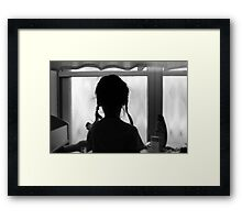 pigtails and memories Framed Print