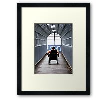 Uphill Struggle Framed Print
