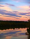 Reflected Sunset on the Dan River by BCallahan