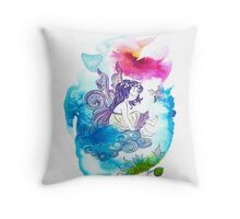 """""""With the Head in the Clouds"""" from the series: """"Angels of Protection"""" for Kids Throw Pillow"""