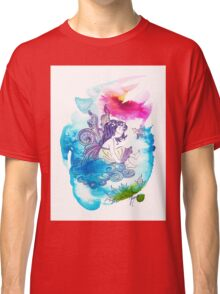 """""""With the Head in the Clouds"""" from the series: """"Angels of Protection"""" for Kids Classic T-Shirt"""