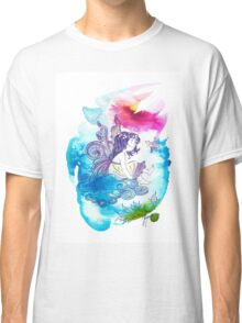 """With the Head in the Clouds"" from the series: ""Angels of Protection"" for Kids Classic T-Shirt"