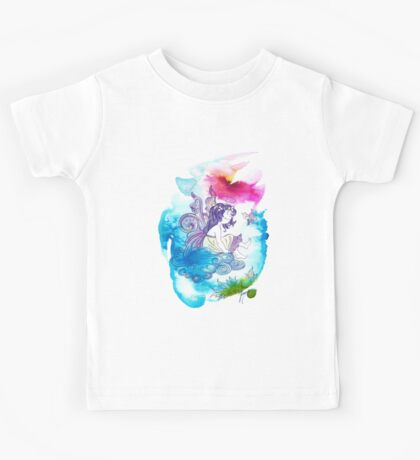 """""""With the Head in the Clouds"""" from the series: """"Angels of Protection"""" for Kids Kids Tee"""