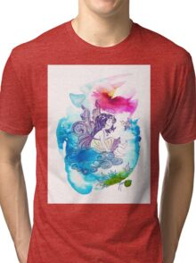 """""""With the Head in the Clouds"""" from the series: """"Angels of Protection"""" for Kids Tri-blend T-Shirt"""