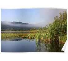 Clouds over pond Poster