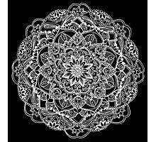Circle Floral Mandala Photographic Print