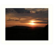 Donegal sunset Art Print
