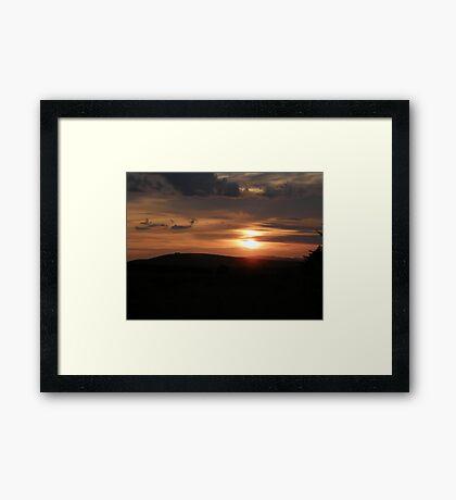 Donegal sunset Framed Print