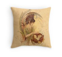 """THE PISCES"" - Protective Angel for Zodiac Sign Throw Pillow"