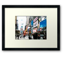 47th and Broadway - Times Square Framed Print