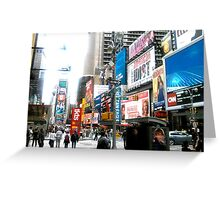 47th and Broadway - Times Square Greeting Card