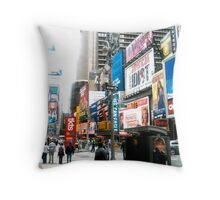 47th and Broadway - Times Square Throw Pillow