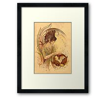 """THE PISCES"" - Protective Angel for Zodiac Sign Framed Print"