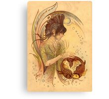 """THE PISCES"" - Protective Angel for Zodiac Sign Canvas Print"