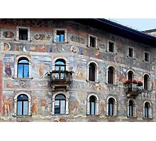 Wall decorations in Trento - Italy Photographic Print