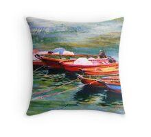 Boat series - Good companions Throw Pillow