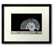 time spiral. ammonite Framed Print