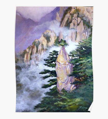 Huang Shan Magic brush Poster