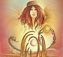 """THE SCORPIO"" - Protective Angel for Zodiac Sign by Anna Miarczynska"