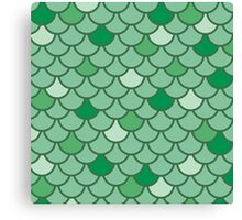 Mermaid Scales - Green Canvas Print