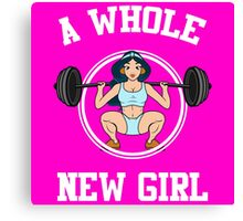 A Whole New Girl Gym Canvas Print