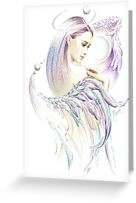 """""""THE VIRGO"""" - Playing with Wings  - Protective Angel for Zodiac Sign by Anna Miarczynska"""