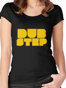 Dubstep yellow Women's Fitted Scoop T-Shirt