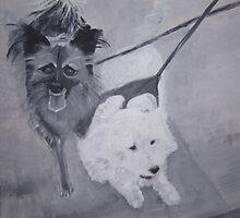 Wile E. Coyote and Gypsy by Christina Glazar