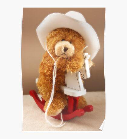 Teddy Bear Rock Poster