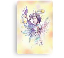 """THE CANCER""  - Protective Angel for Zodiac Sign Canvas Print"