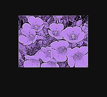 Floral Abstract-Purple and Black T-Shirt