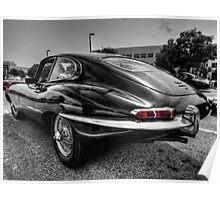 Jaguar E Type 001 Poster