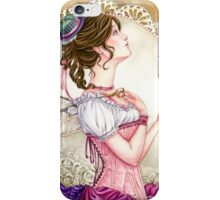 Victorian Sewing Fairy with lace and corset iPhone Case/Skin