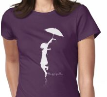 Hoppípolla White Womens Fitted T-Shirt