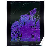 Massachusetts  USGS Historical Topo Map MA Vineyard Haven 350663 1951 24000 Inverted Poster